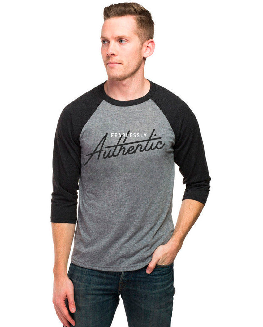 4e8c923301 Fearlessly Authentic Unisex Baseball Tee
