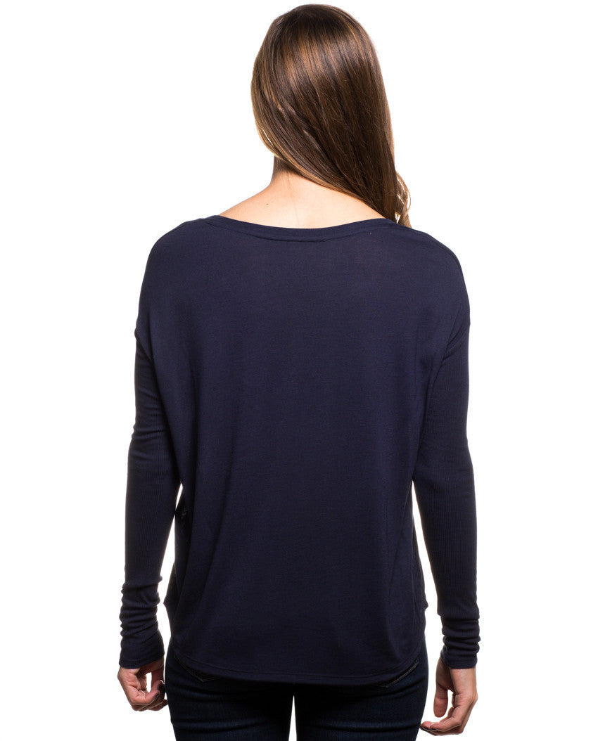 Feather Flowy Long Sleeve Tee