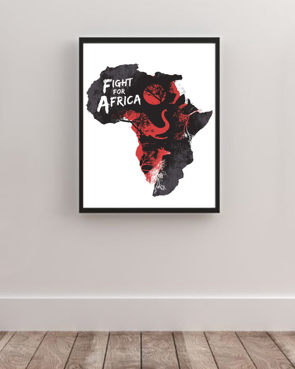 Fight For Africa Art Poster