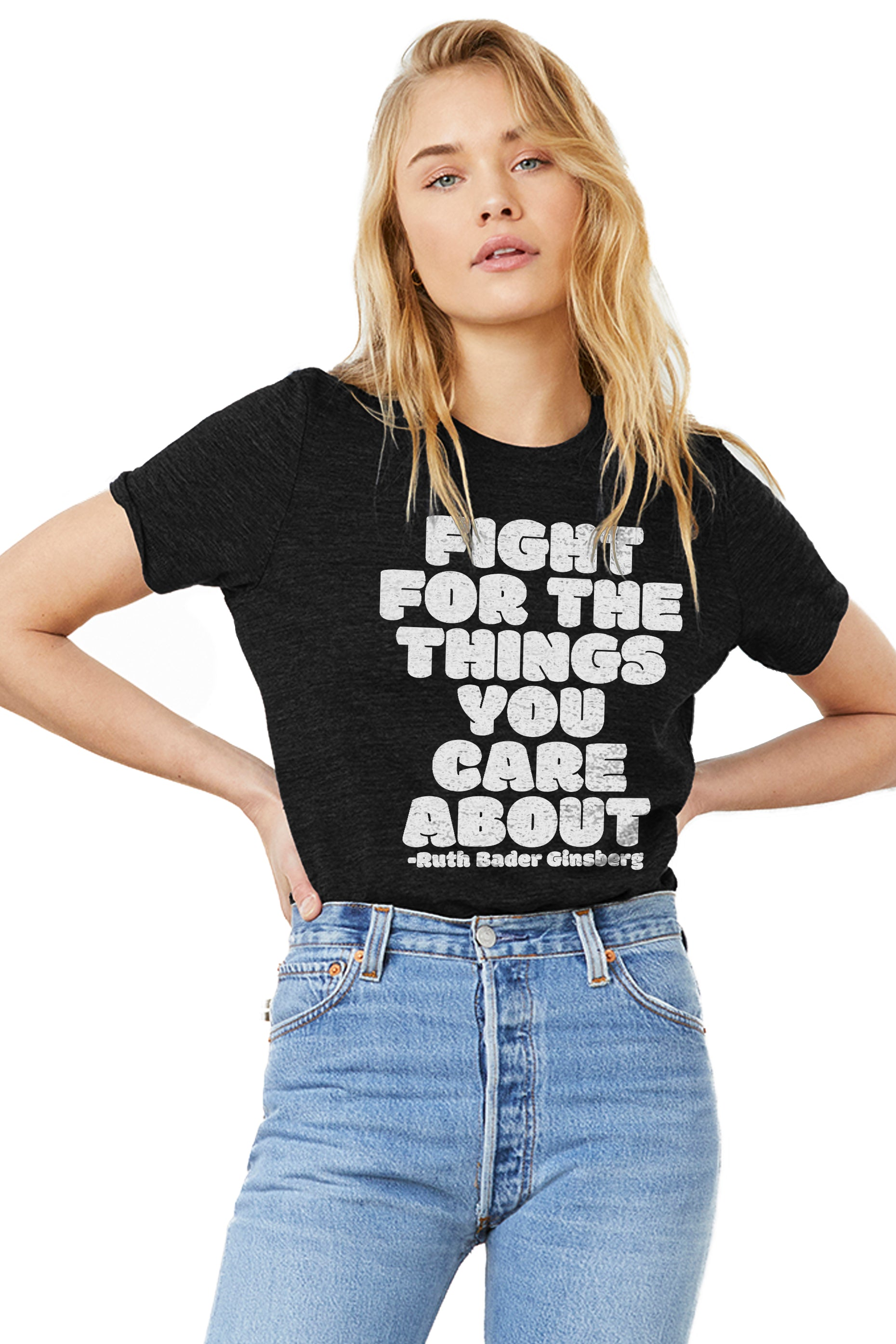 RBG Fight For The Things You Care About Unisex Premium Adult Crewneck Tee