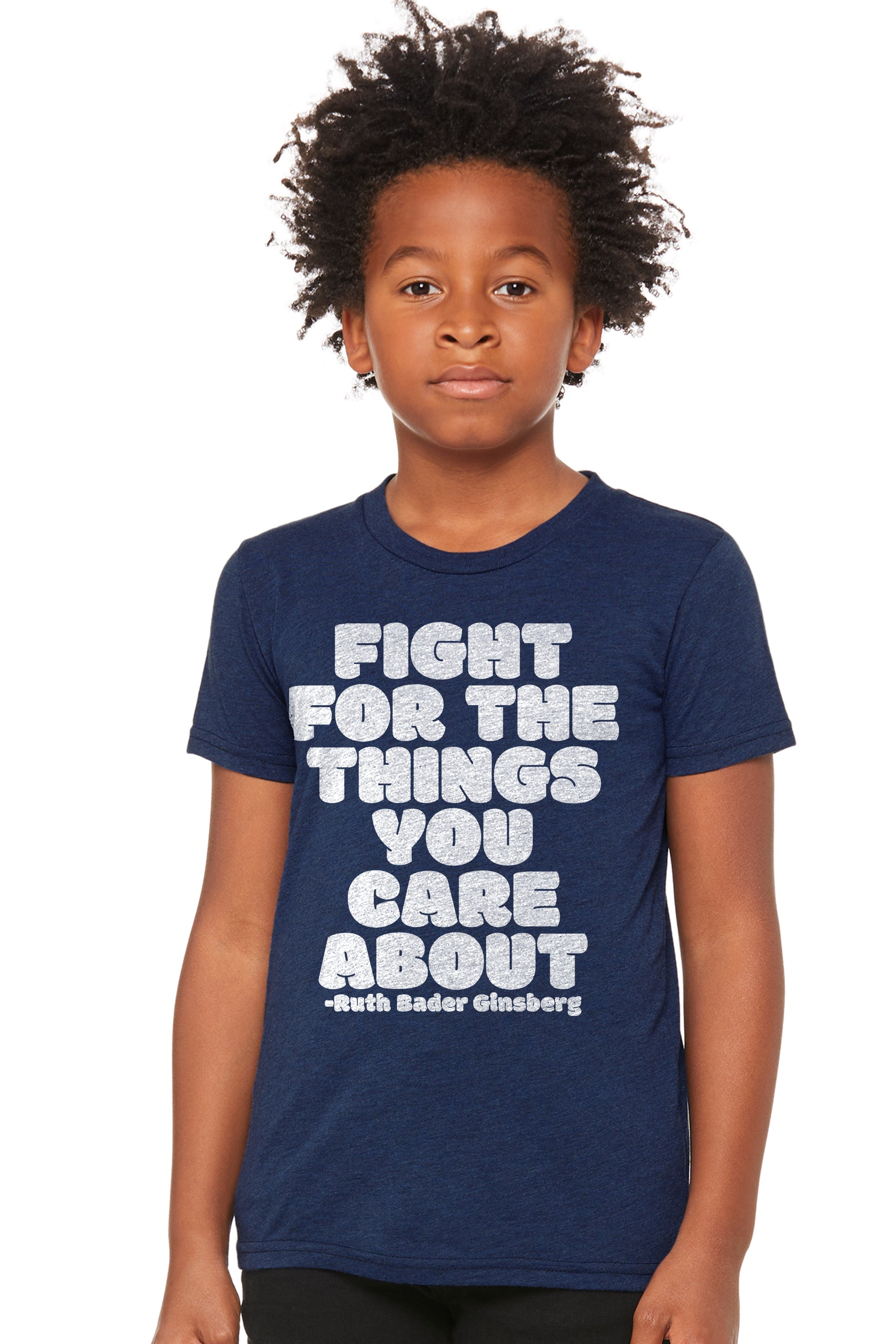 RBG Fight For The Things You Care About Unisex Premium Kids Crewneck Tee