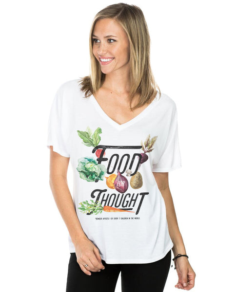 Food For Thought Flowy V Neck