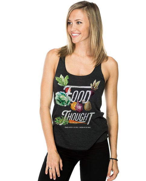 Food For Thought Fitted Racerback Tank