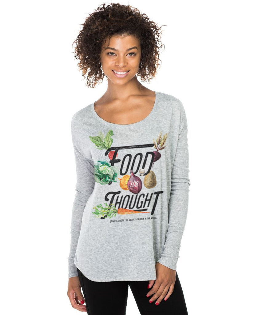 Food For Thought Flowy Long Sleeve Tee