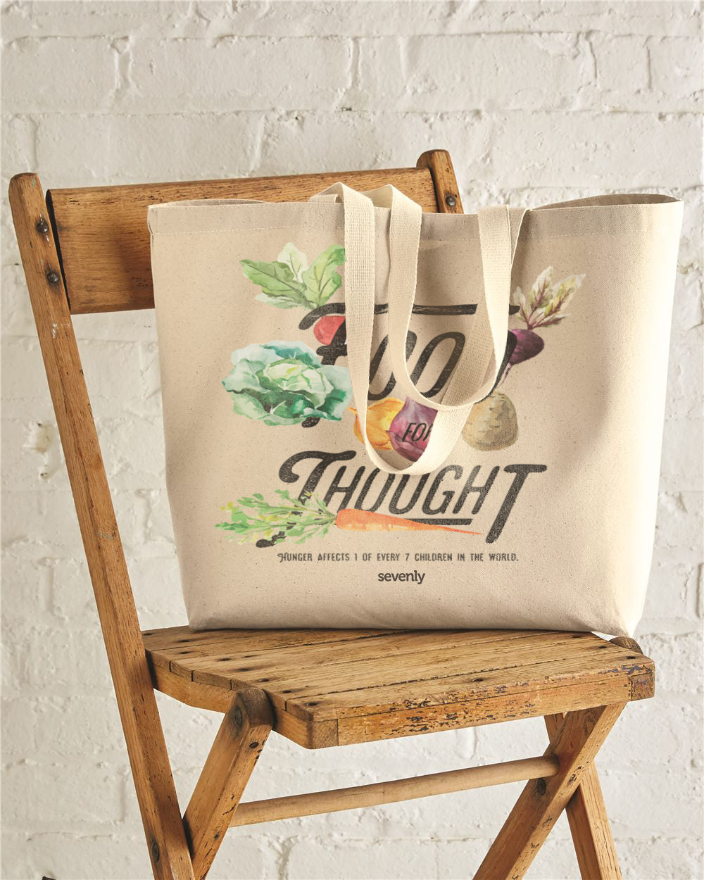 Food For Thought Jumbo Cotton Canvas Tote Bag