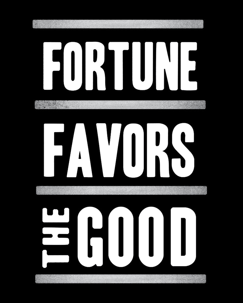 FORTUNE FAVORS THE GOOD - Mens Red Triblend Premium Tee