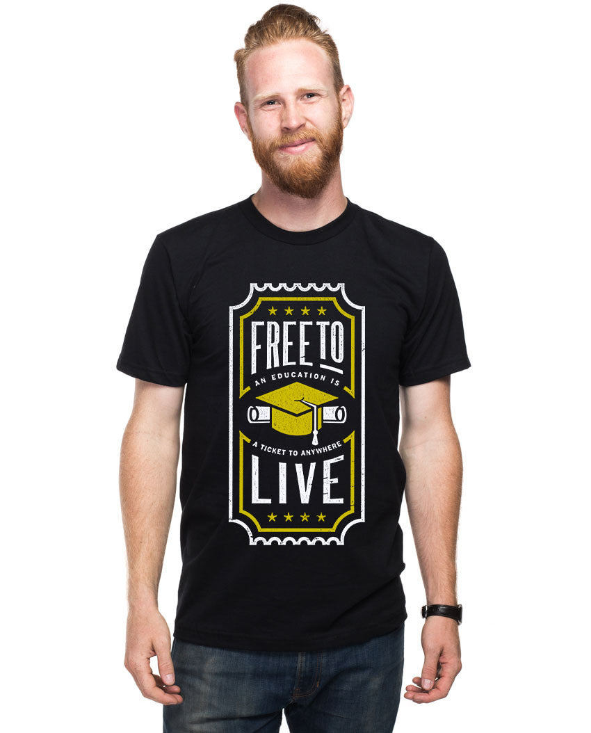 Free To Live Fitted Tee