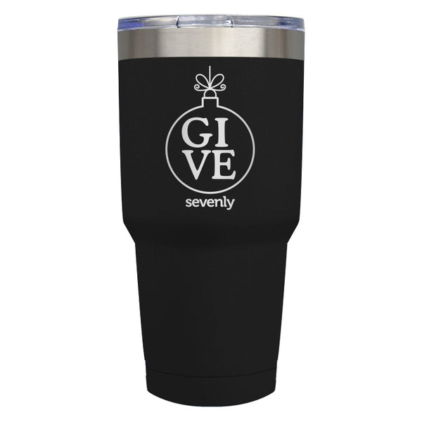 GIVE - Ornament - Black Tumbler Drinkware