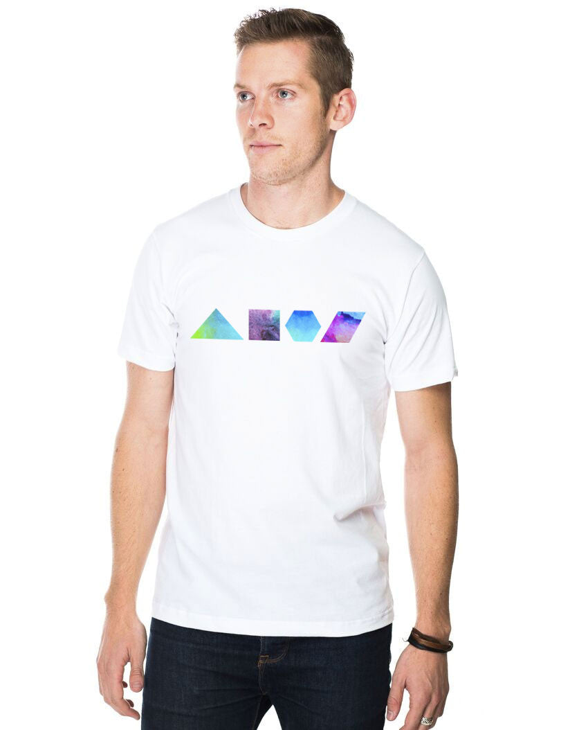 Geometric Shapes Fitted Tee