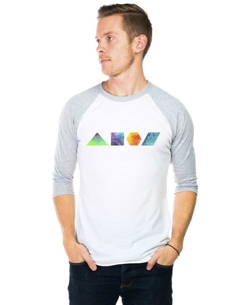 Geometric Shapes Unisex Baseball Tee