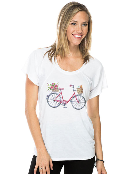 Girl Bicycle Flowy Raglan