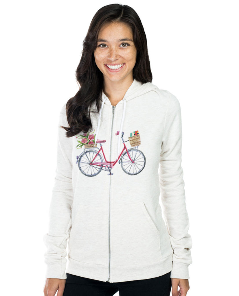 Girl Bicycle Unisex Hoodie