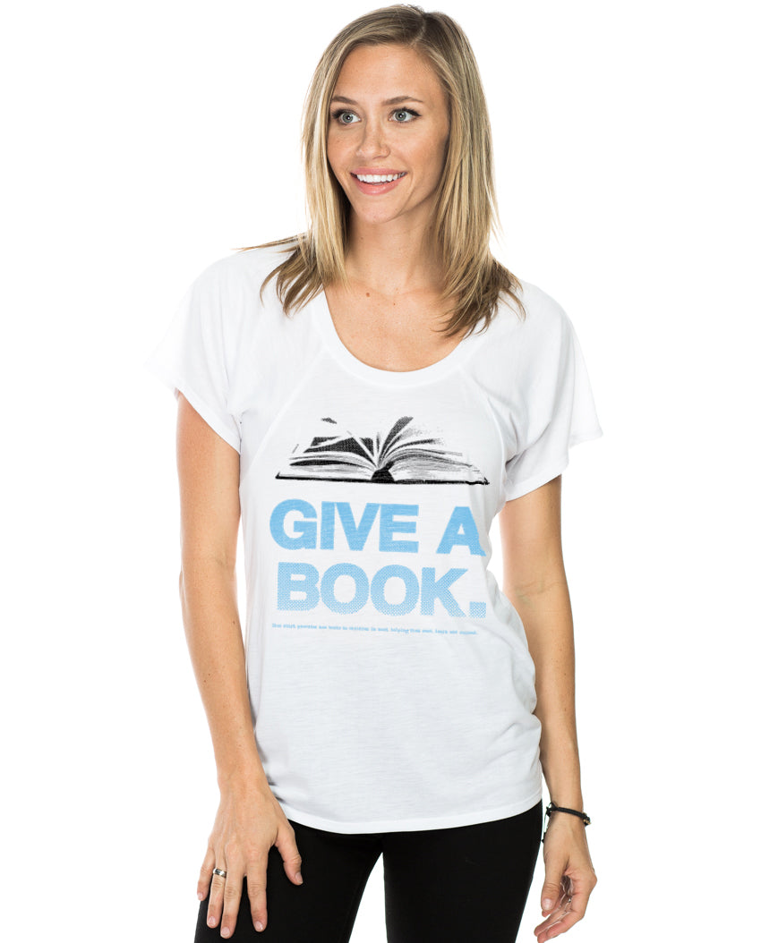 Give A Book Women's Flowy Raglan