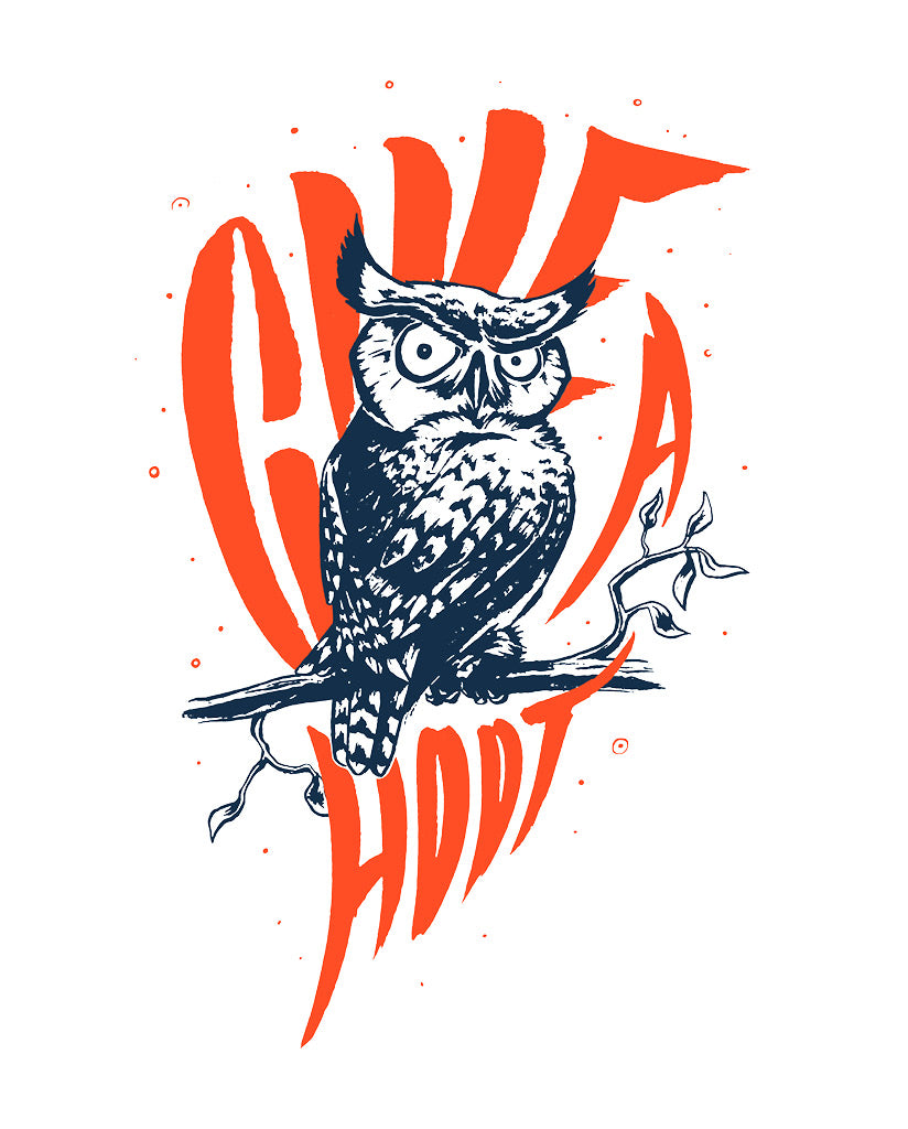 Give A Hoot Boys Blue Tee