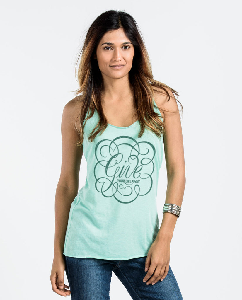 Give Your Life Away Racerback Tank