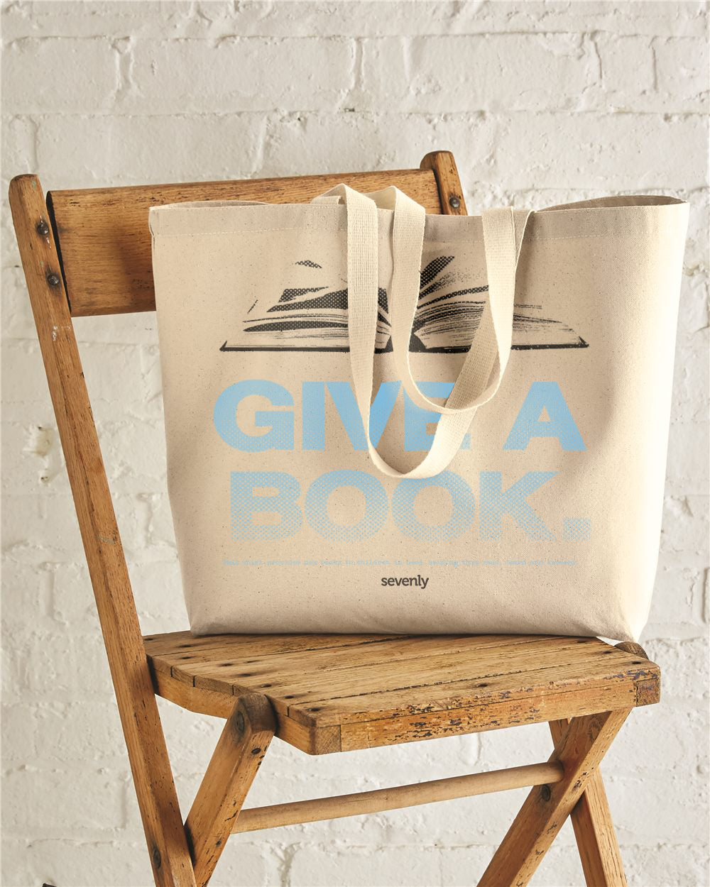 Give A Book Jumbo Cotton Canvas Tote Bag