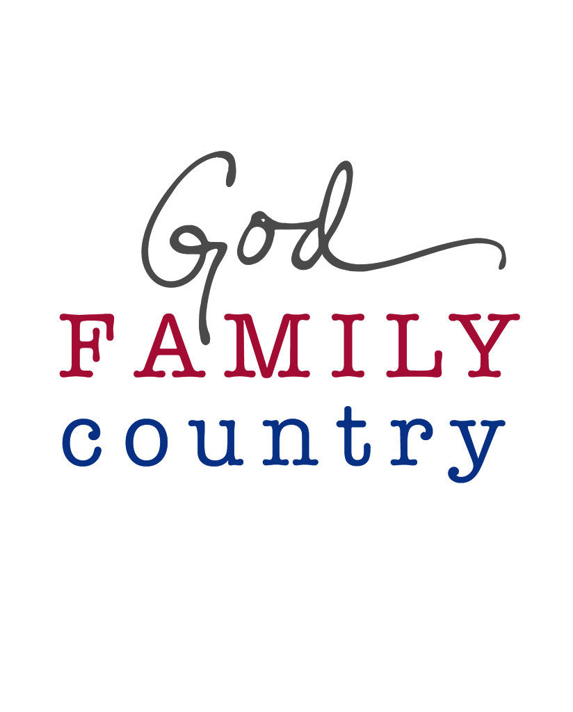 God Family Country Womens Flowy Raglan