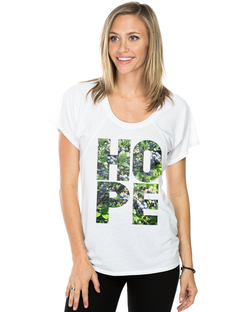 HOPE Blueberry Women's Flowy Raglan