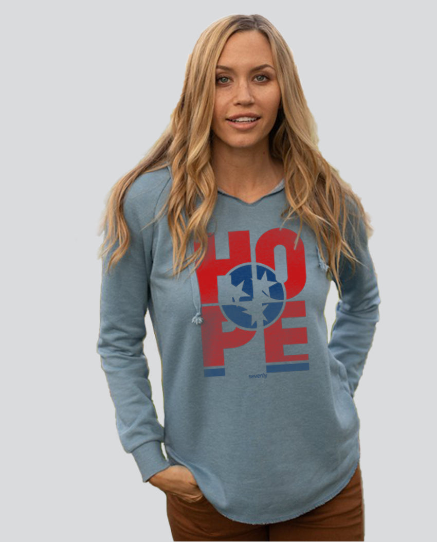 HOPE Tennessee - Women's Midweight Pigment Dyed Raglan Hoodie