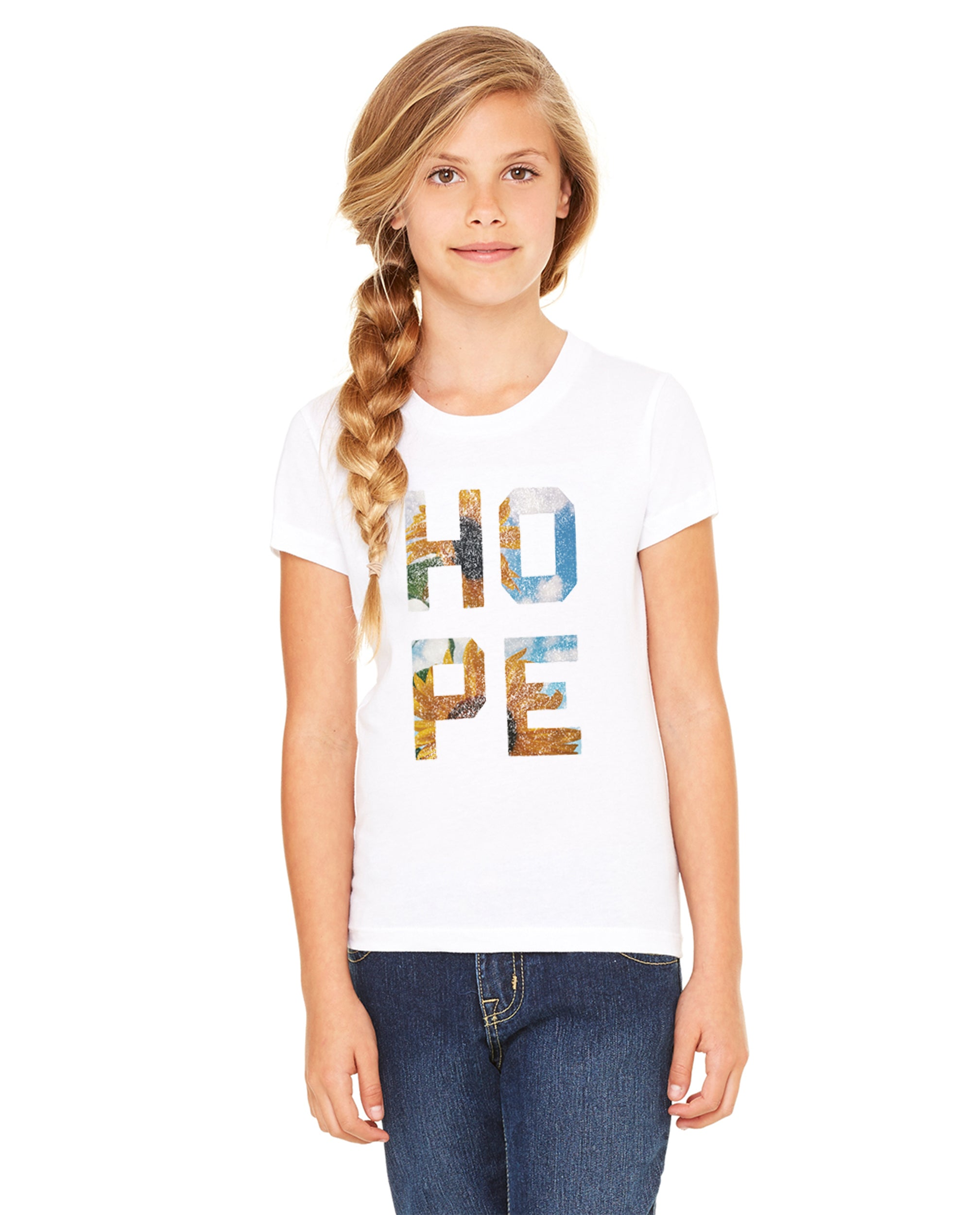 HOPE Floral Premium Classic Tee Made In The USA For The Family