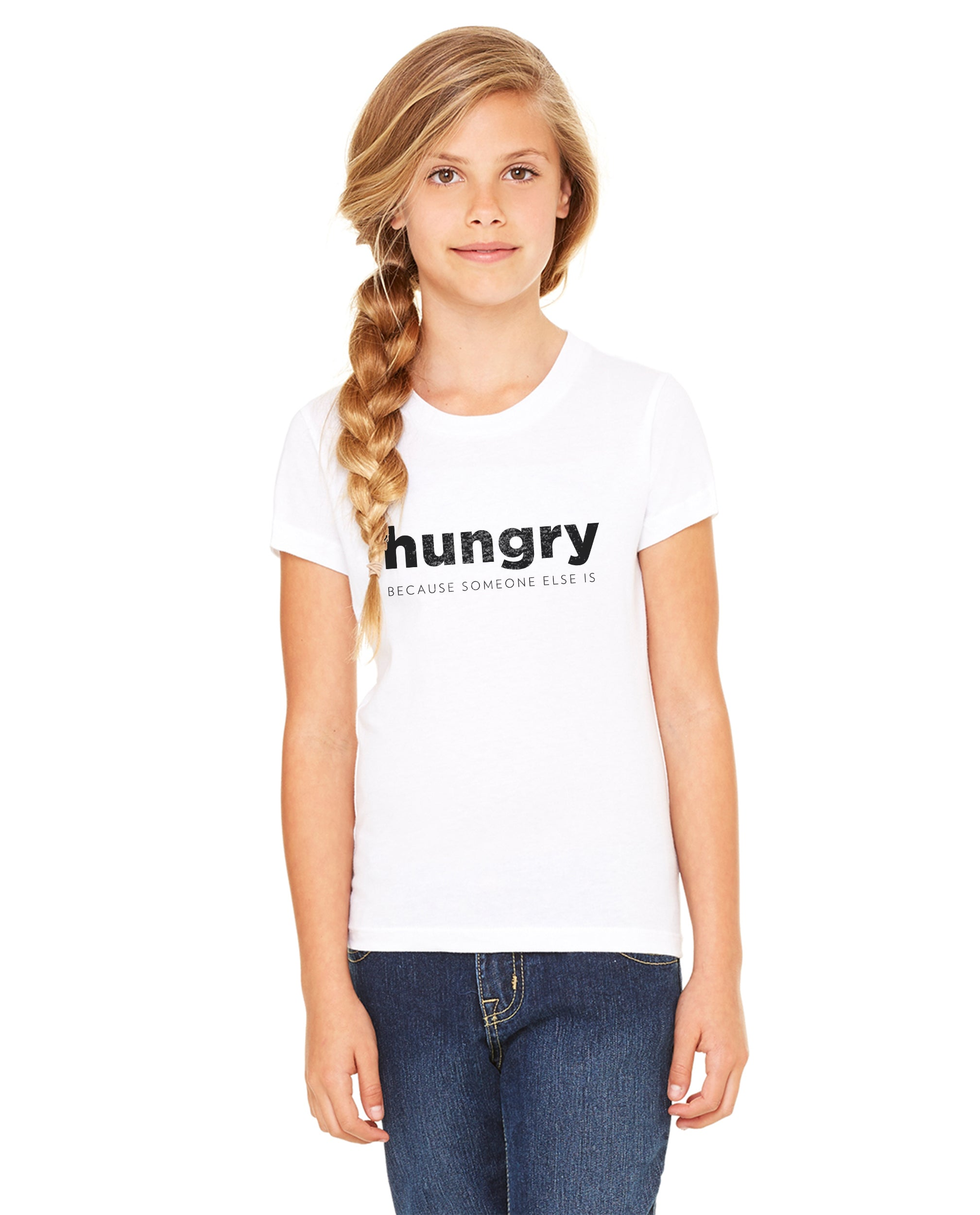 HUNGRY Unisex Premium Crewneck Tee For The Family