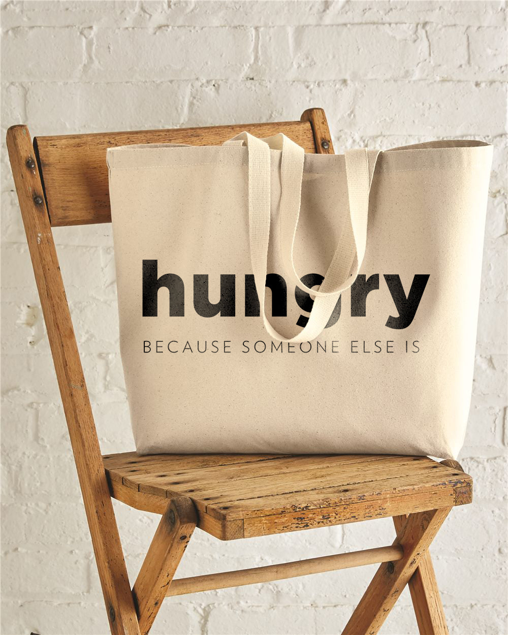 HUNGRY Jumbo Cotton Canvas Tote Bag