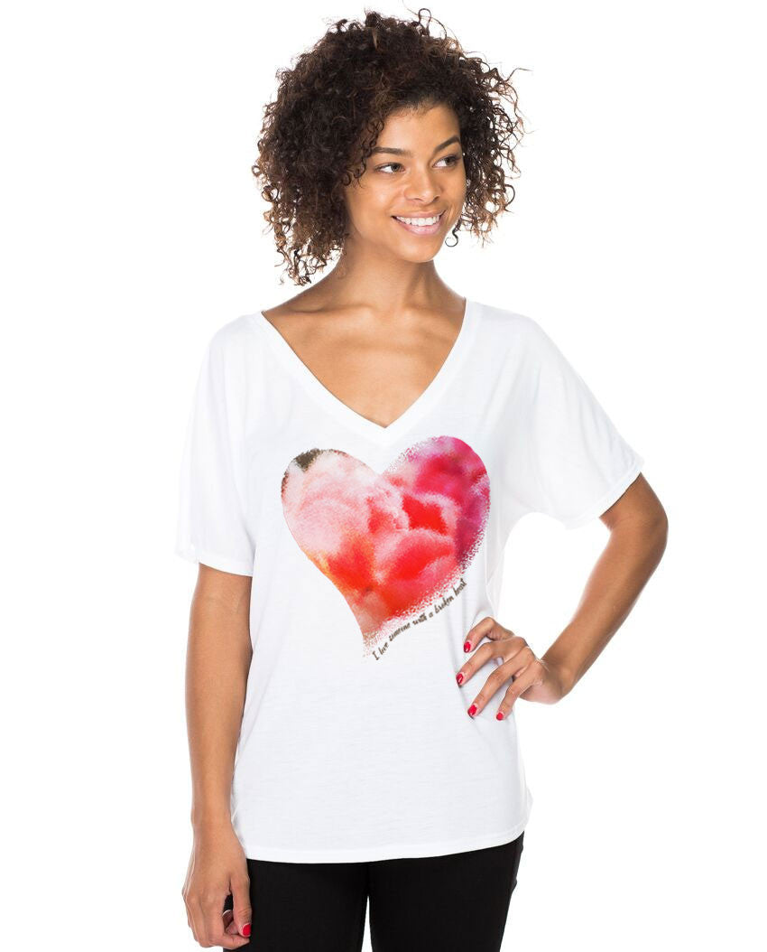 Healing Heart Womens Poly Viscose Flowy V Neck