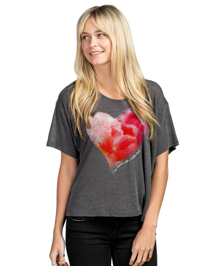 Healing Heart Womens Relaxed Flowy Dolman Poly Viscose