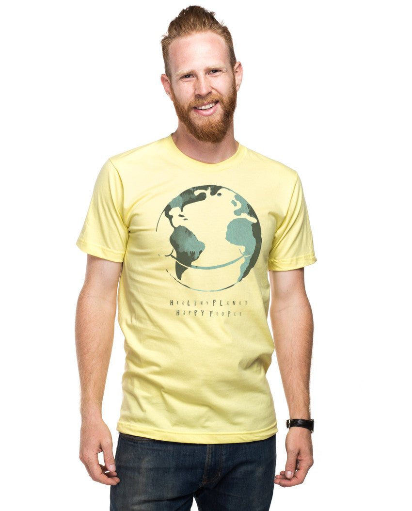 Healthy Planet Happy People Fitted Tee