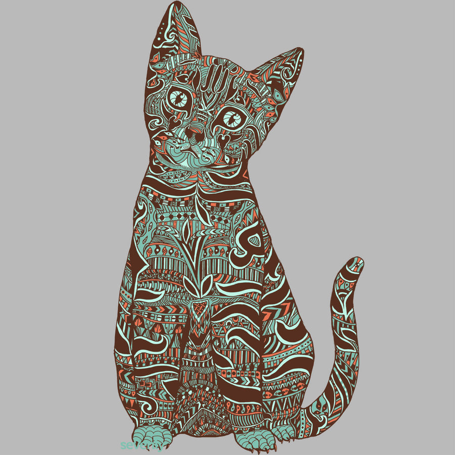SEVENLY HOME GOODS - COTTON CANVAS THROW PILLOW - HENNA CAT