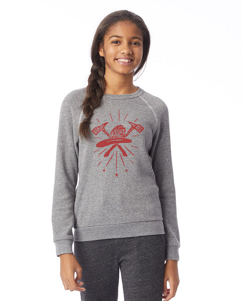Heroes All Around Girls Premium Triblend Crewneck Fleece