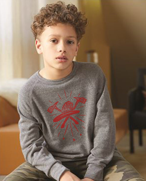 Heroes All Around Boys Premium Triblend Crewneck Fleece