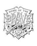 Home Of The Brave Mens Premium Fitted Tee