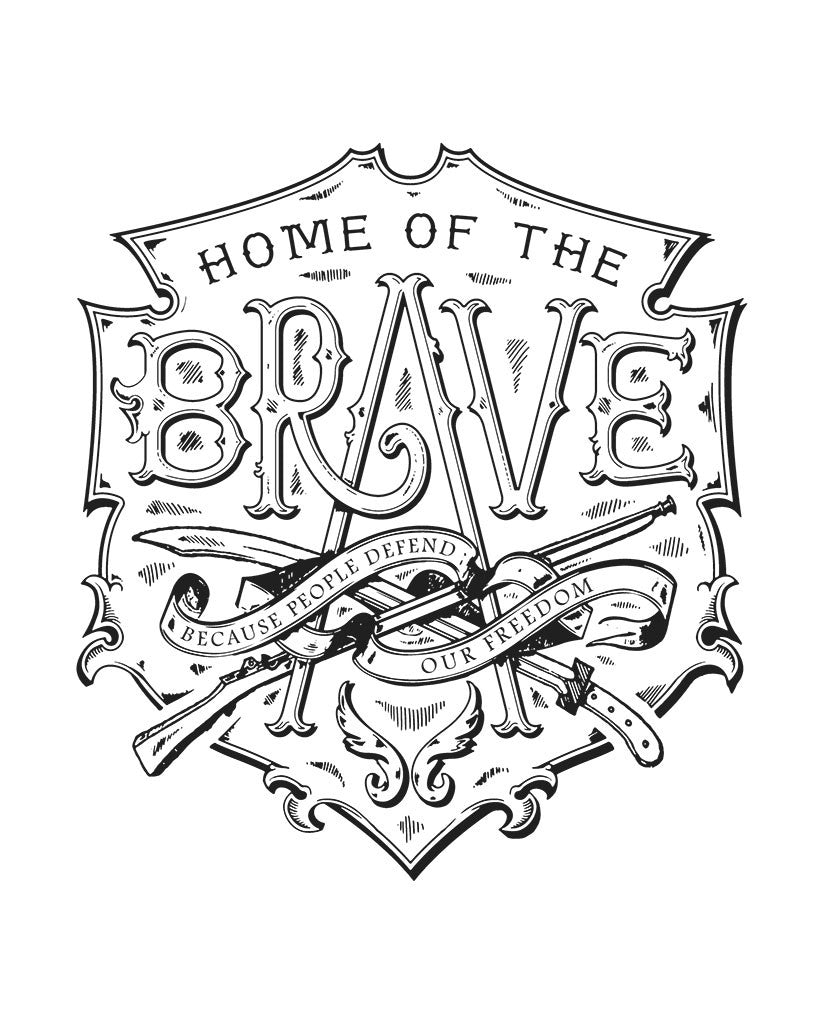 Home Of The Brave Womens Flowy V-Neck