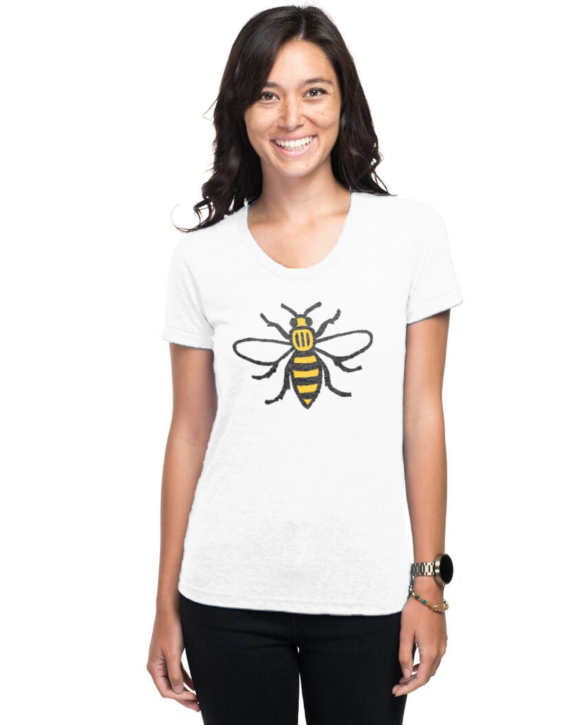 Honey Bee Women's Triblend Slim Fit Short Sleeve Tee