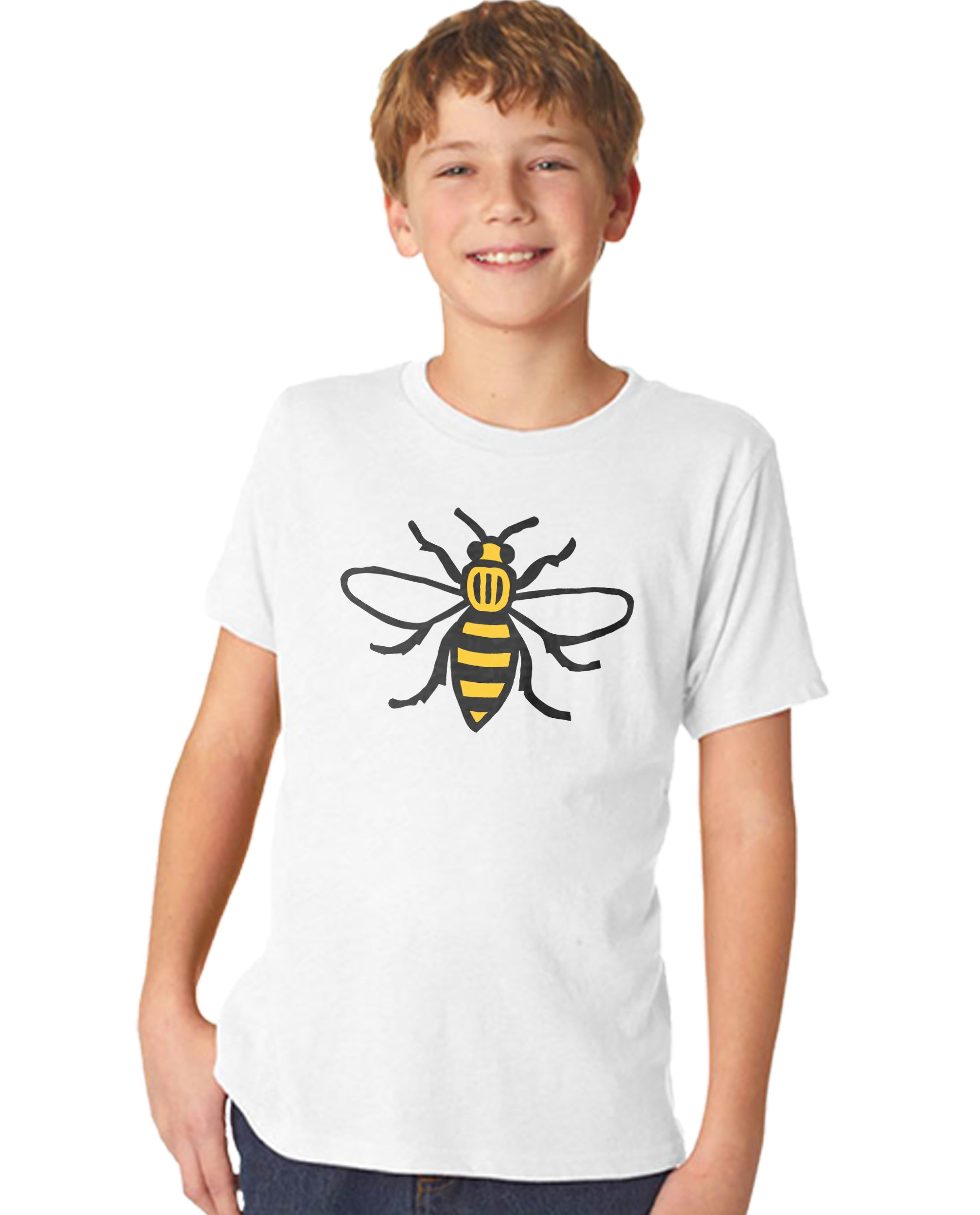 Honey Bee Boy's Premium Short Sleeve Crew