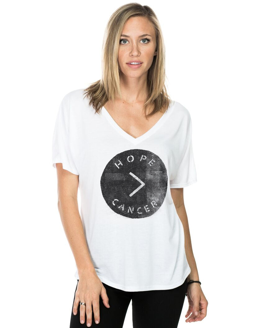 HOPE > CANCER Women's Flowy V-Neck