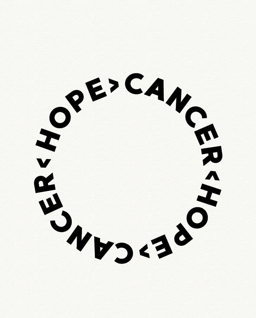 HOPE > CANCER Womens Navy Slouchy Sweatshirt