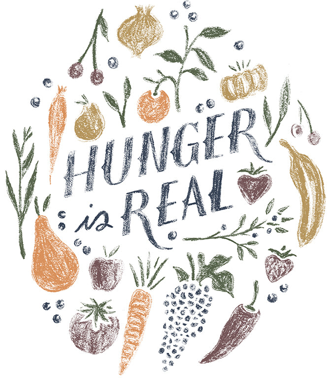 Hunger Is Real Jumbo Cotton Canvas Tote Bag