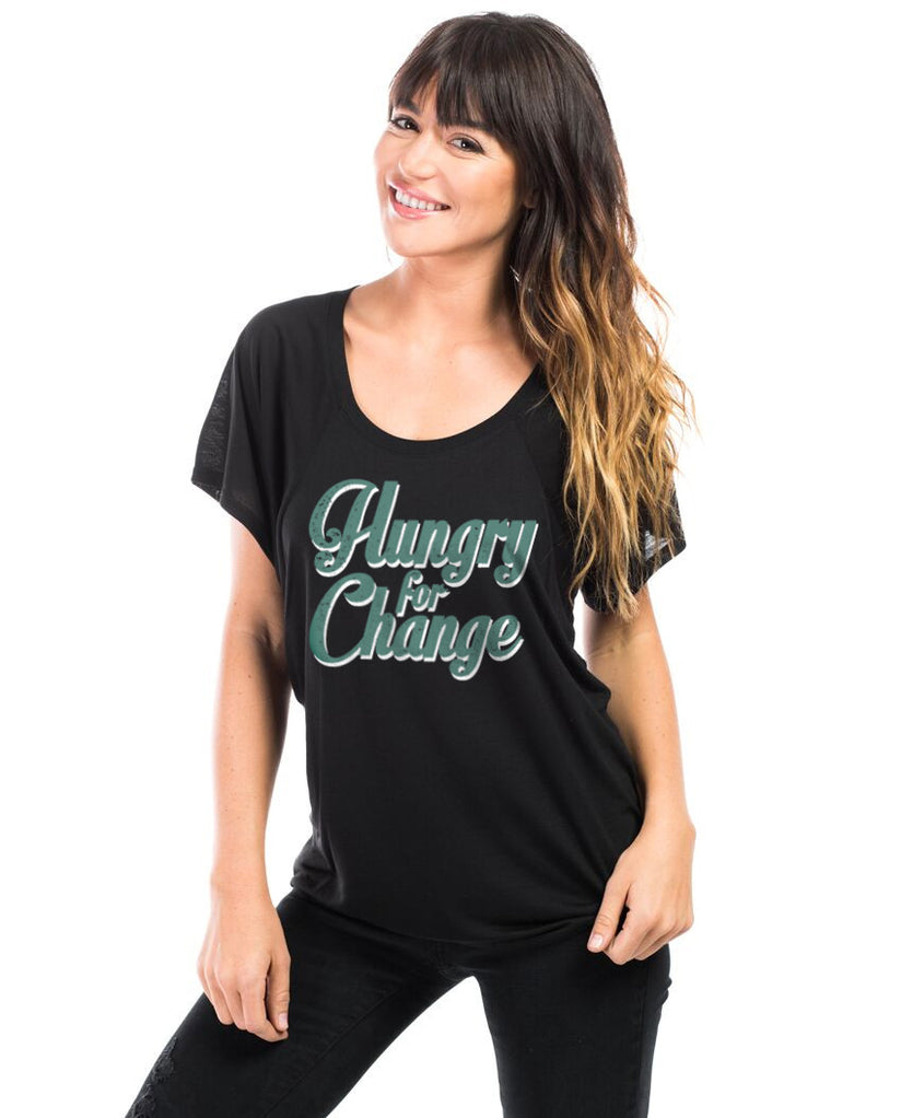 Hungry For Change Flowy Raglan