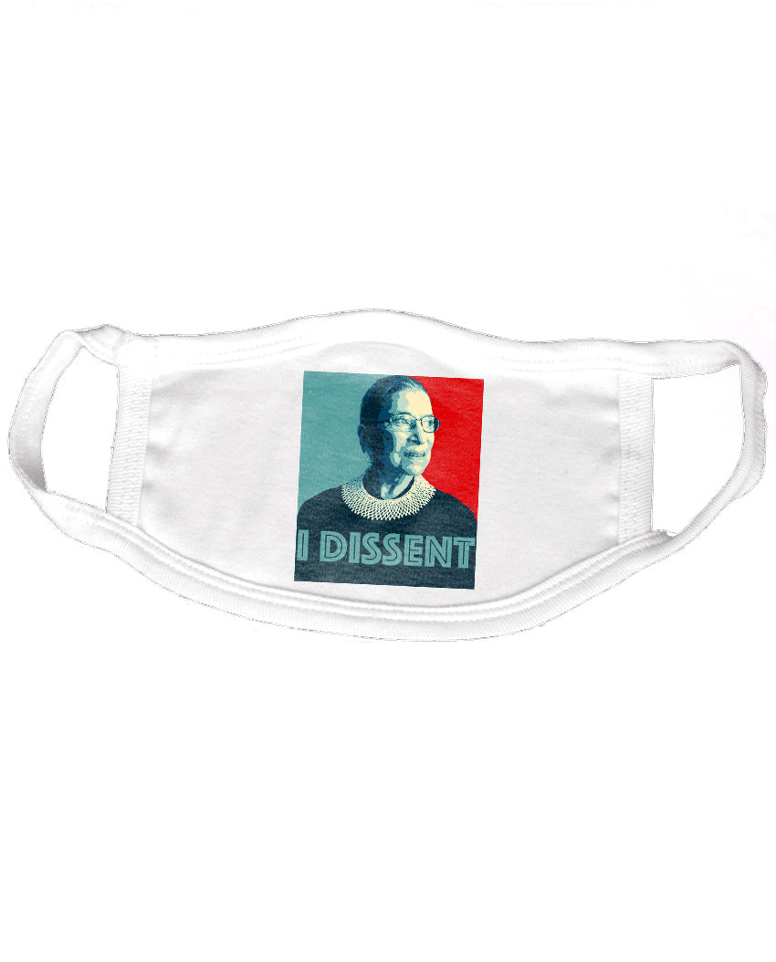 Ruth Bader Ginsberg I Dissent Reusable 2-ply Cotton Mask ($2 to $1 Match)