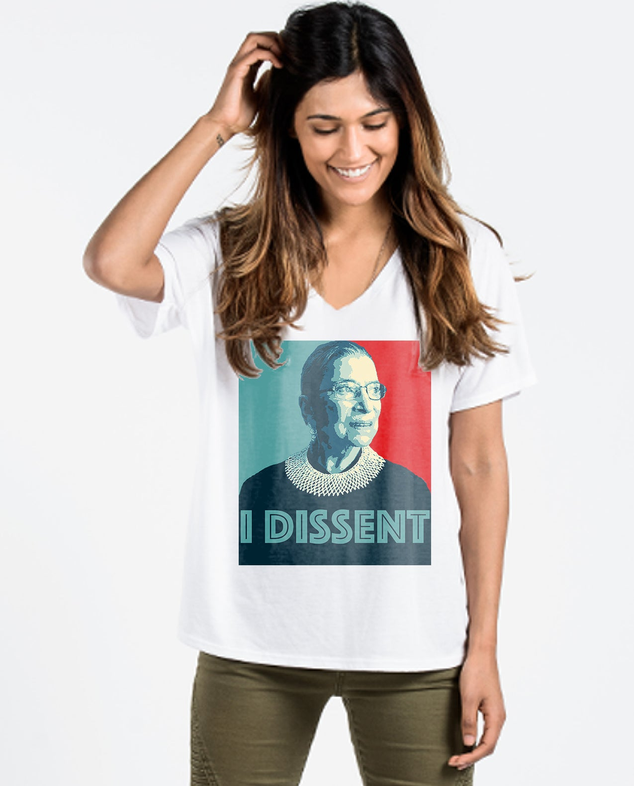 Ruth Bader Ginsberg I Dissent Women's Flowy Vneck