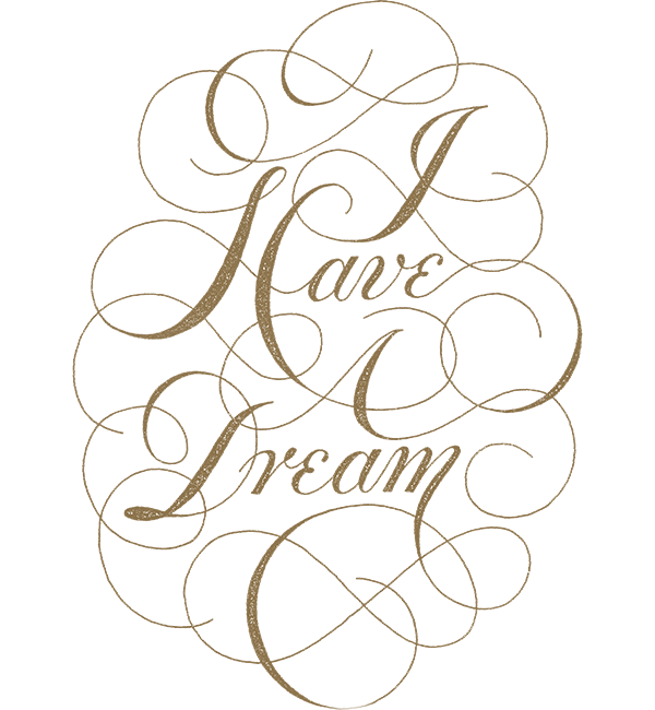 MLK I Have A Dream Script - Womens Premium White Flowy Raglan