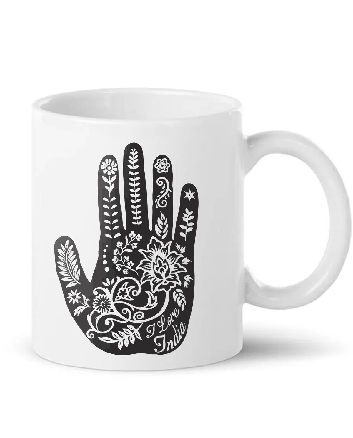 I Love India Henna Hand Art Coffee Mug