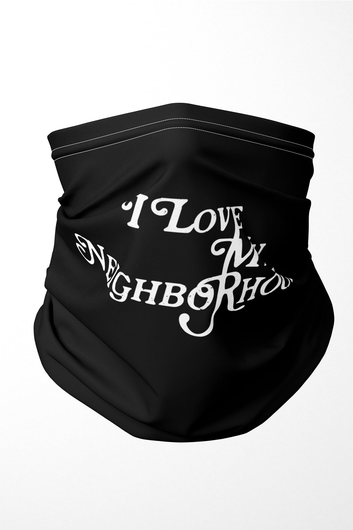 I Love My Neighborhood Premium Adults Face Mask Neck Gaiter