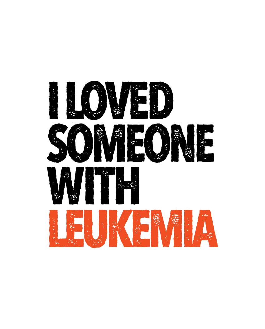 I LOVE SOMEONE WITH LEUKEMIA UNISEX MENS PREMIUM FITTED TEE