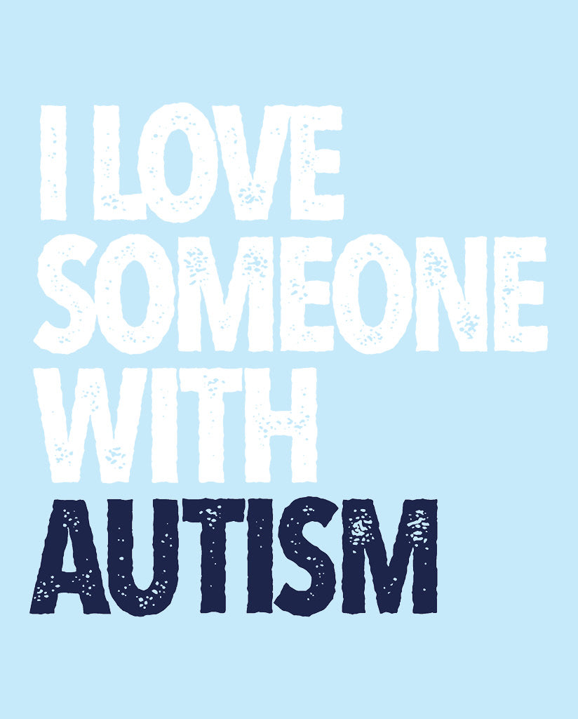 I LOVE SOMEONE WITH AUTISM Boy's Grey Cotton Crew