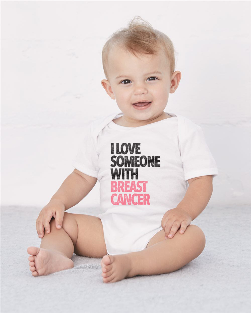 I LOVE SOMEONE WITH BREAST CANCER PREMIUM CLASSIC TEE FOR THE FAMILY