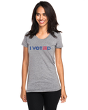 I Voted 3 Bars & Star - Women's Premium Fitted Tri-blend Short Sleeve Tee