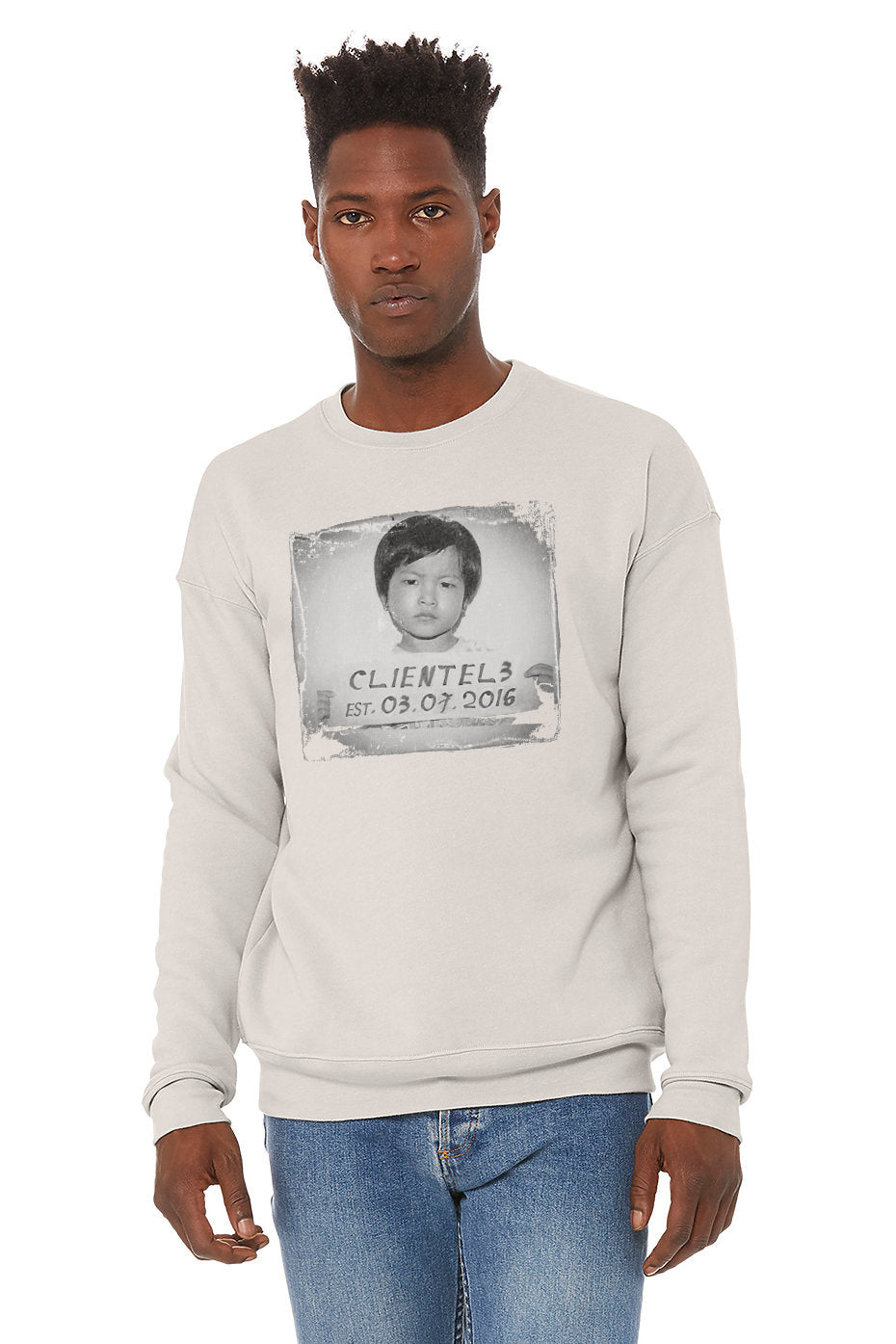 Immigrant - Unisex Heather Dust Cotton Poly Crewneck Sweatshirt by C3